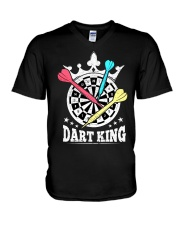 Dart king V-Neck T-Shirt thumbnail