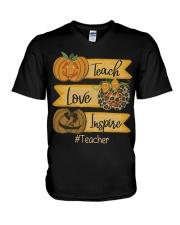 Teach love inspire V-Neck T-Shirt thumbnail