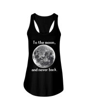To the moon and never back Ladies Flowy Tank thumbnail