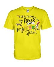 Everything that real V-Neck T-Shirt thumbnail