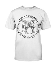 I play drum to silence the voice in my heart Premium Fit Mens Tee thumbnail