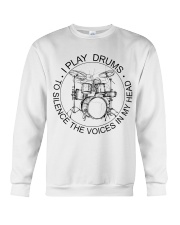 I play drum to silence the voice in my heart Crewneck Sweatshirt thumbnail