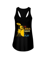 In Jesus name i play Ladies Flowy Tank thumbnail