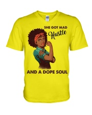 Dope soul V-Neck T-Shirt tile