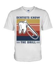 Dentist know the drill V-Neck T-Shirt thumbnail