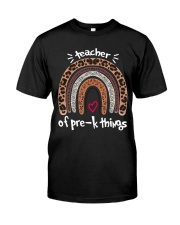 Teacher of pre k things Classic T-Shirt front
