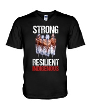 Strong resilient indigenous V-Neck T-Shirt thumbnail