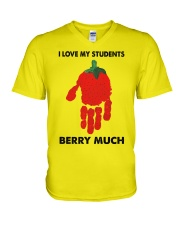 I love my students berry much V-Neck T-Shirt thumbnail