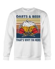 Darts and beer thats why im here Crewneck Sweatshirt thumbnail