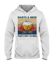 Darts and beer thats why im here Hooded Sweatshirt thumbnail