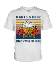 Darts and beer thats why im here V-Neck T-Shirt thumbnail