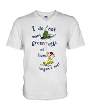 Vegan i am V-Neck T-Shirt thumbnail