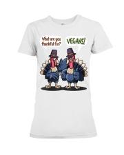 Vegan thankful Premium Fit Ladies Tee thumbnail