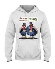Vegan thankful Hooded Sweatshirt thumbnail