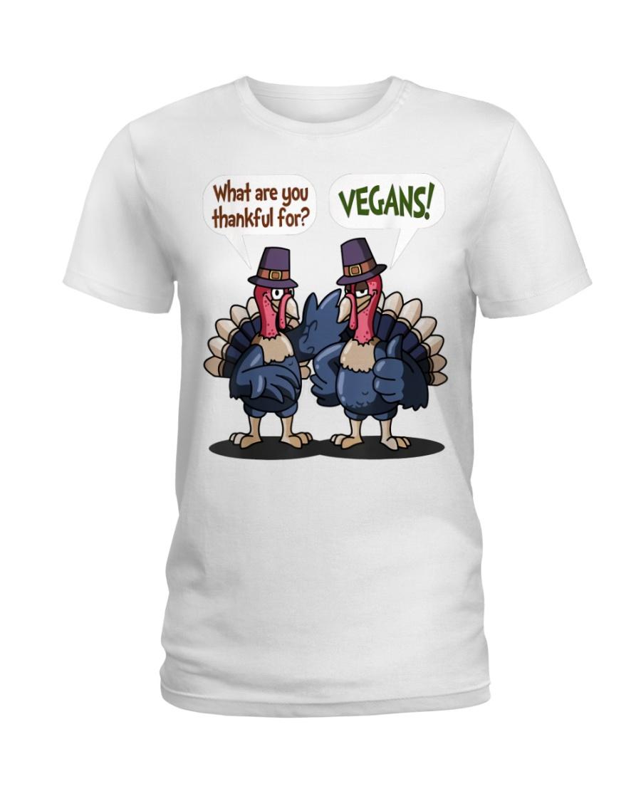 Vegan thankful Ladies T-Shirt