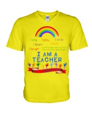 I am a teacher V-Neck T-Shirt thumbnail