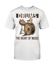 Drums the heart of music Classic T-Shirt front