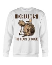 Drums the heart of music Crewneck Sweatshirt thumbnail