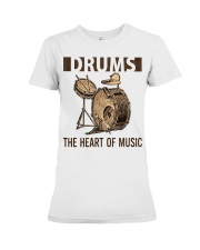 Drums the heart of music Premium Fit Ladies Tee thumbnail