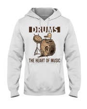 Drums the heart of music Hooded Sweatshirt thumbnail