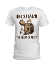 Drums the heart of music Ladies T-Shirt thumbnail