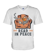 Read in peace V-Neck T-Shirt thumbnail