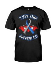 Type one superheroes Classic T-Shirt front