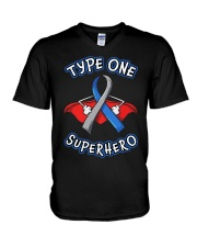 Type one superheroes V-Neck T-Shirt thumbnail