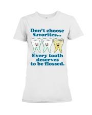 Teeth don't choose Premium Fit Ladies Tee thumbnail
