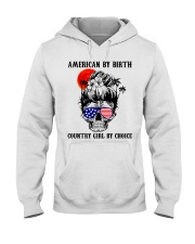Country girl by choice Hooded Sweatshirt tile
