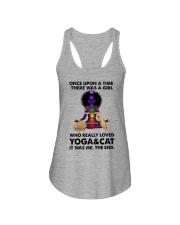 Yoga and cat Ladies Flowy Tank thumbnail