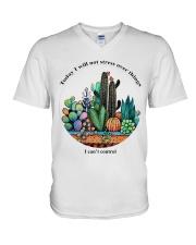 I can't control V-Neck T-Shirt thumbnail