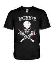 Drummer V-Neck T-Shirt thumbnail