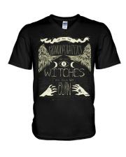 Witches V-Neck T-Shirt thumbnail