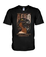 Afro V-Neck T-Shirt thumbnail