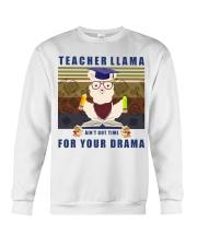 Teacher LLama Crewneck Sweatshirt thumbnail