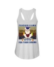 Teacher LLama Ladies Flowy Tank thumbnail
