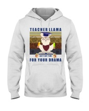 Teacher LLama Hooded Sweatshirt thumbnail