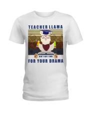 Teacher LLama Ladies T-Shirt thumbnail