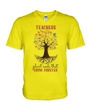 Teachers V-Neck T-Shirt thumbnail