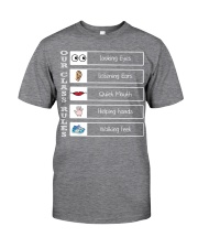 Class rules Classic T-Shirt front