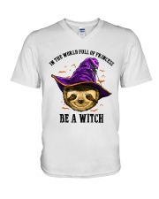 Be a witch V-Neck T-Shirt thumbnail