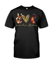 Peace love Melanin Classic T-Shirt front