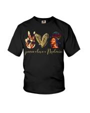 Peace love Melanin Youth T-Shirt thumbnail