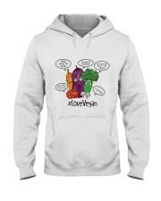 Love vegan Hooded Sweatshirt thumbnail