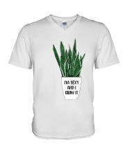 I grow it V-Neck T-Shirt thumbnail