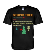 Stupid tree V-Neck T-Shirt thumbnail