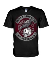 Hello darkness my old friend V-Neck T-Shirt tile