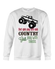 Country girls play with Trucks Crewneck Sweatshirt thumbnail