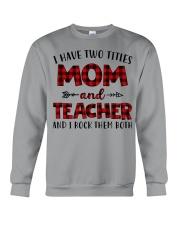 Mom and teacher Crewneck Sweatshirt thumbnail